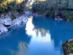 Gorgeous shade of blue at Hokitika Gorge