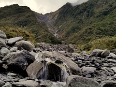 Mountain stream on our hike to Fox Glacier