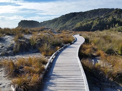 Sand dune boardwalk; Ship Creek