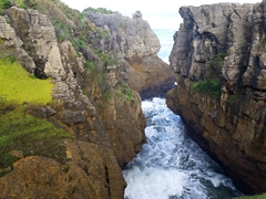 Natural gorge at Punakaiki pancake rocks