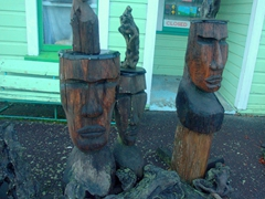 Carved tree stumps