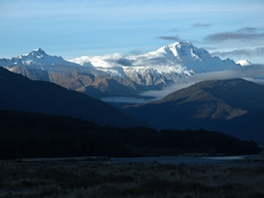 View as we drive towards Haast Pass