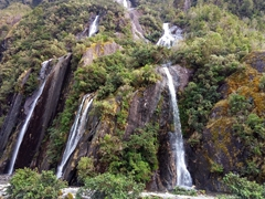 Waterfall on our hike to Franz Josef glacier