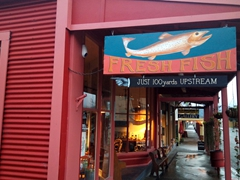 Fresh fish sign; Reefton
