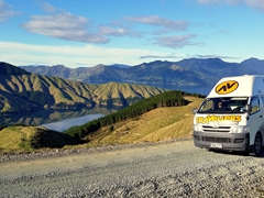 Stopping to check out the jaw dropping views; Marlborough Sounds