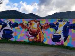 Funky cow art