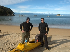Smiling after our morning excursion with Kaiteriteri Kayaks