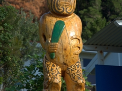 Maori carving; French Pass