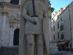 1427 Statue of Roland (a knight of Charlemagne) in front of the Church of St Blaise