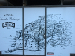 Map of Dubrovnik on an Ožujsko billboard (Croatian lager beer)