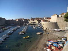 Exterior panoramic view of Dubrovnik's well preserved old town