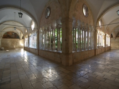 Interior view of the Gothic/Renaissance cloister (1456-1469); Dominican Monastery