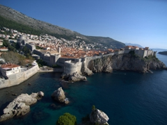Old town of Dubrovnik as seen from Fort Lovrijenac