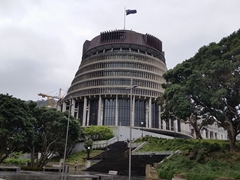 Beehive Parliament building; Wellington