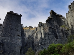 "Putangirua Pinnacles, used for the ""Paths of the Dead"" in the Lord of the Ring - Return of the King movie"