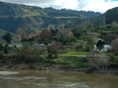 Jerusalem settlement, a tiny and isolated village on Whanganui River Road