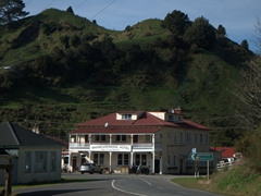 Whangamomona hotel, the only sleeping option in the republic