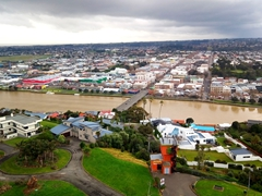 View of Whanganui from the top of Durie Hill tower