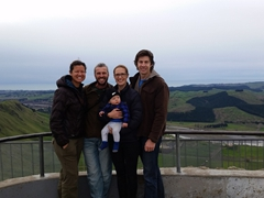 Photo with MJ, Goodie & Zane; Te Mata Peak