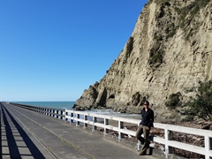 Becky on Tolaga Bay Wharf