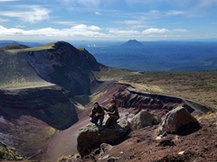 Gorgeous view from the top of Mount Tarawera