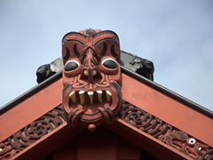 Roof detail on Mataatua