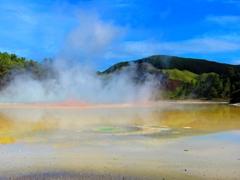 Colorful mud pools; Wai-O-Tapu Thermal Park