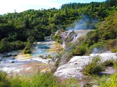 Highly active geothermal area of Orakei Korako Geyser Field