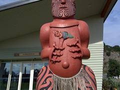 Carved statue; Mataatua