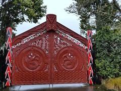 Entrance to the Turangawaewae Marae; Ngaruawahia