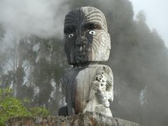 Maori carving; Wairakei