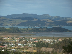 View of Hauraki Gulf at the Eyeful Tower, viewing platform of the Driving Creek Railway