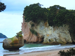 An easy 40 minute hike brings us to the picturesque Cathedral Cove