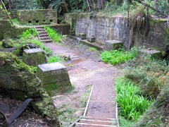 Remnants of an old historic gold mining area in Waihi; Karangahake Gorge