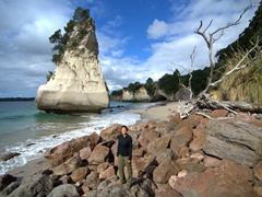 Becky by Te Hoho Rock; Cathedral Cove