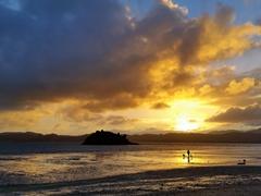 Sunset over Koutu beach