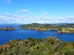 View of Rahomaunu Island as seen from Tutukaka Headland's lighthouse walkway