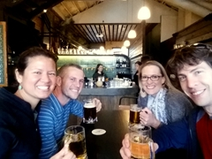 Drinking at the Chamberlain bar