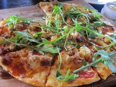 Yummy pizza at Jack Tar bar; Auckland