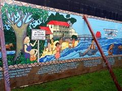 Colorful mural at the Opononi i-Site