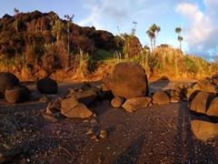 Koutu boulders at sunset