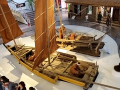Model of traditional boats used in Jeju; Natural History Museum
