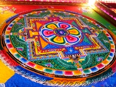Colorful mandala; Yakcheonsa Temple