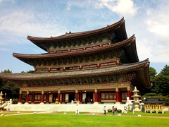 Yakcheonsa Temple - the largest Buddhist prayer hall in Asia