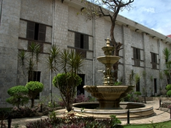 Courtyard of Basilica del Santo Niño