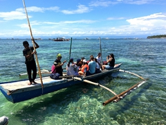 Getting ferried to Panglao Peninsula
