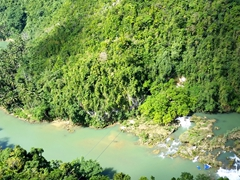 Looking down on the Loboc River
