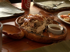 Crispy lechon for lunch; House of Lechon