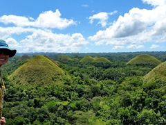 Admiring the chocolate hills of Bohol