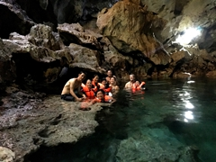 Swimming in Hinagdanan Cave; Panglao